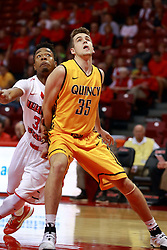 05 November 2016:   Grant Fischer during an NCAA  mens basketball game where the Quincy Hawks lost to the Illinois State Redbirds in an exhibition game at Redbird Arena, Normal IL