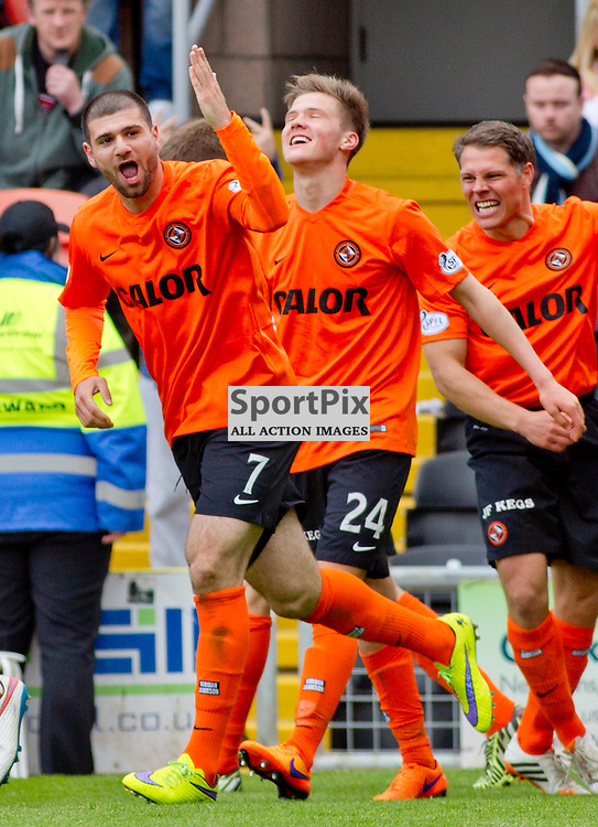 Dundee Utd v Dundee SPFL Premiership Tannadice Park 24 May 2015 <br /> Nadir Cifti celebrates the 3rd goal<br /> CRAIG BROWN | sportPix.org.uk