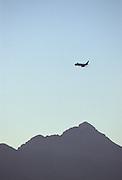 Passenger Jet, Chugach Range, Anchorage, Alaska