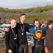 The 2009 annual river / kajak race down Tungufljót. Iceland.