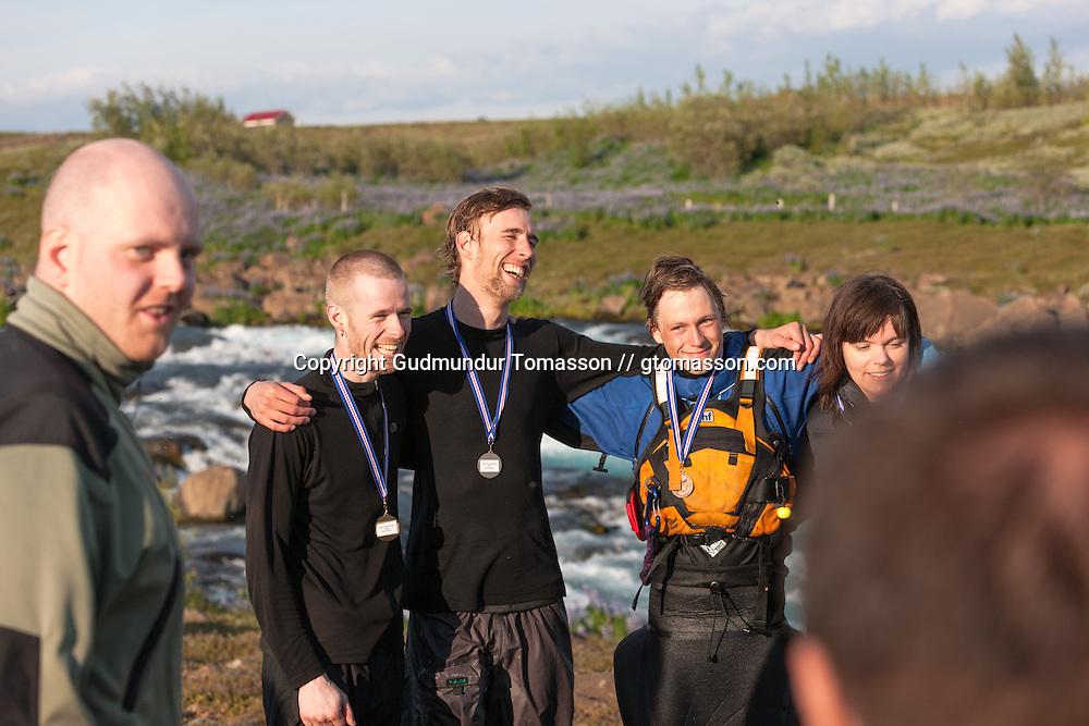 The 2009 annual river / kajak race down Tungufljót. Iceland.