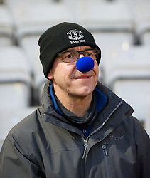 STEVENAGE, ENGLAND - Saturday, January 25, 2014: Everton supporters wearing blue noses during the FA Cup 4th Round match against Stevenage at Broadhall Way. (Pic by Tom Hevezi/Propaganda)