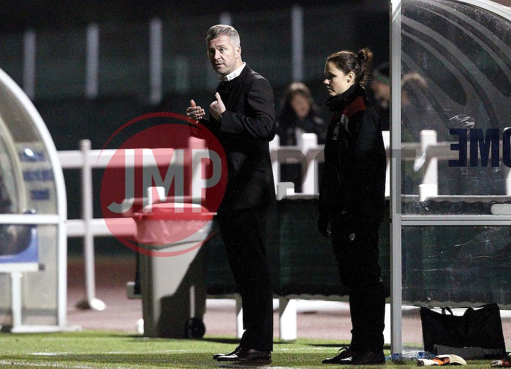 Willie Kirk manager of Bristol City Women - Mandatory by-line: Robbie Stephenson/JMP - Mobile: 07966 386802 - 23/03/2016 - FOOTBALL - Stoke Gifford Stadium - Bristol, England - Bristol City Women v Yeovil Town Ladies - FA Women's Super League 2
