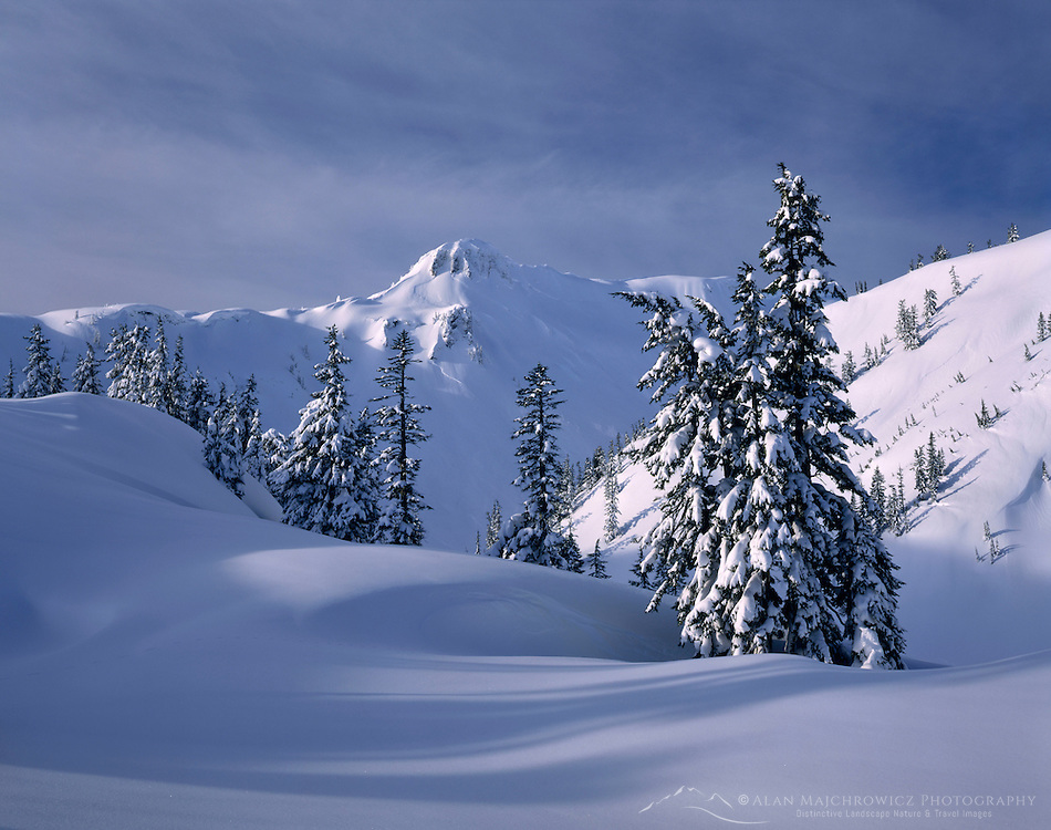 Heather Meadows Recreation Area in winter, Mount Baker Snoqualmie National Forest Washington USA