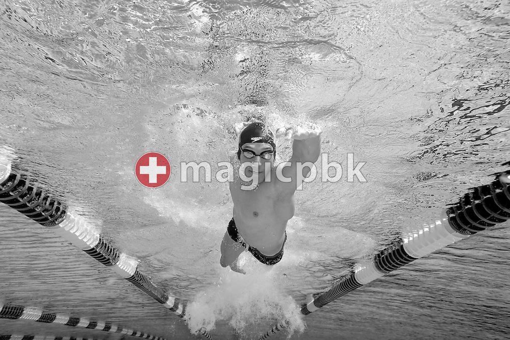 Flori LANG of Switzerland swims freestyle (crawl) during a practice session during a training camp in Tenero, Switzerland, Monday, July 30, 2007. (Photo by Patrick B. Kraemer / MAGICPBK)