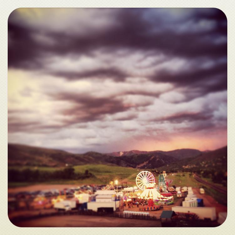 Beaver Creek Carnival at sunset. Avon, CO