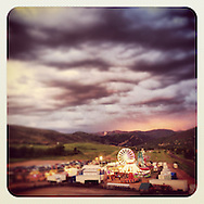 Beaver Creek Carnival at sunset. Avon, CO