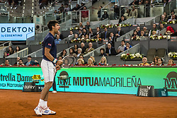 May 11, 2017 - Madrid, Madrid, Spain - NOVAK DJOKOVIC (SRB) reacts after winning a point against Feliciano Lopez (ESP) in round 3 of the 'Mutua Madrid Open' 2017. Djokovic won 6:4, 7:5 (Credit Image: © Matthias Oesterle via ZUMA Wire)