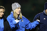 30 November 2013: UCLA head coach Amanda Cromwell. The University of North Carolina Tar Heels played the University of California Los Angeles Bruins at Fetzer Field in Chapel Hill, North Carolina in a 2013 NCAA Division I Women's Soccer Tournament Quarterfinal match. UCLA won the game 1-0 in two overtimes.