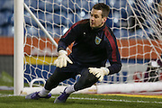 Burnley goalkeeper Thomas Heaton  during the Sky Bet Championship match between Burnley and Nottingham Forest at Turf Moor, Burnley, England on 23 February 2016. Photo by Simon Davies.
