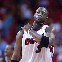 5 November 2008: Dwyane Wade of the Miami Heat is seen during the Miami Heat 106-83 victory over the Philadelphia 76ers at AmericanAirlines Arena, in Miami, Florida, USA.