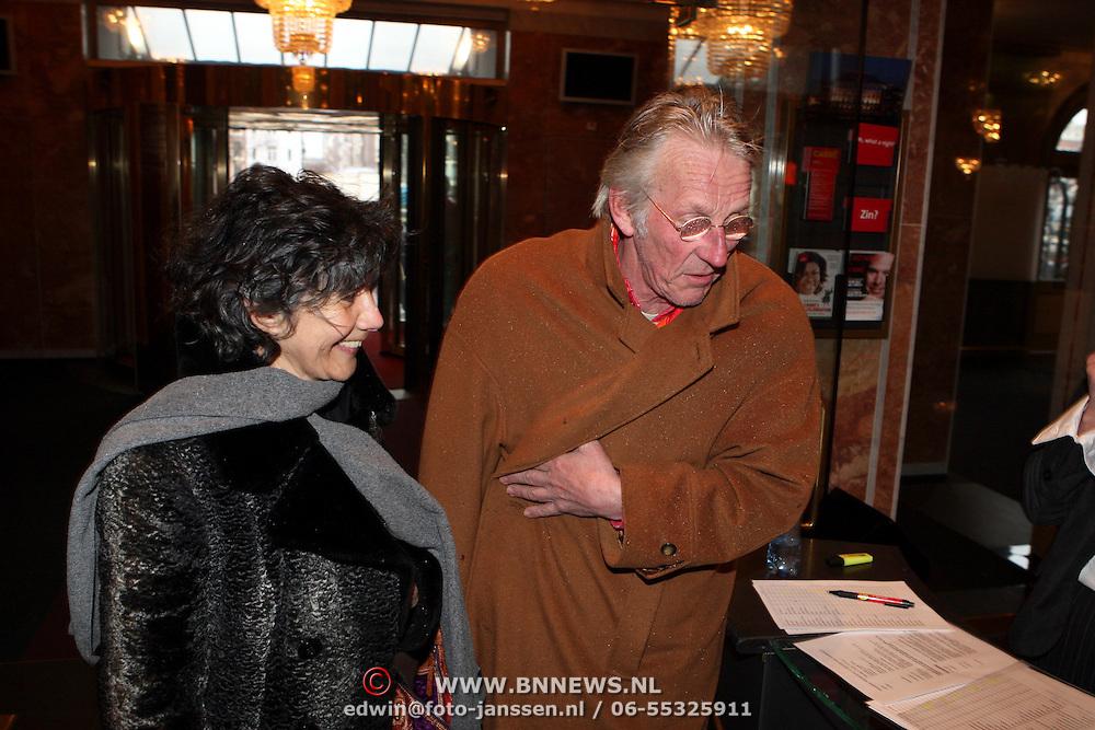 NLD/Amsterdam/20080310 - DVD box presentatie Wim Sonneveld, Freek de Jonge  en partner Hella Asser