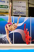 Khonina Polina from Nervianese team during the Italian Rhythmic Gymnastics Championship in Padova, 25 November 2017.