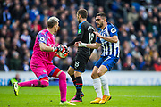 Vicente Guaita (GK) (Crystal Palace) in action during the Premier League match between Brighton and Hove Albion and Crystal Palace at the American Express Community Stadium, Brighton and Hove, England on 29 February 2020.