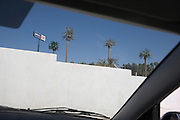 mobile phone antennas disguised as palm trees near Palm Springs CA America
