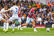 Jack Grealish of Aston Villa (10) in action during the EFL Sky Bet Championship match between Leeds United and Aston Villa at Elland Road, Leeds, England on 28 April 2019.