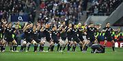 Twickenham, GREAT BRITAIN,    New Zealand, perform the Haka before the QBE. Autumn International;  England vs New Zealand, Rugby match.  Autumn, International Test Series.  RFU. Twickenham Stadium, Surrey.  Saturday  01/12/2012..[Mandatory Credit; Peter Spurrier/Intersport-images]