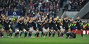 Twickenham, GREAT BRITAIN,    New Zealand, perform the Haka before the QBE. Autumn International;  England vs New Zealand, Rugby match.  Autumn, International Test Series.  RFU. Twickenham Stadium, Surrey.  Saturday  01/12/2012..[Mandatory Credit; Peter Spurrier/Intersport-images]