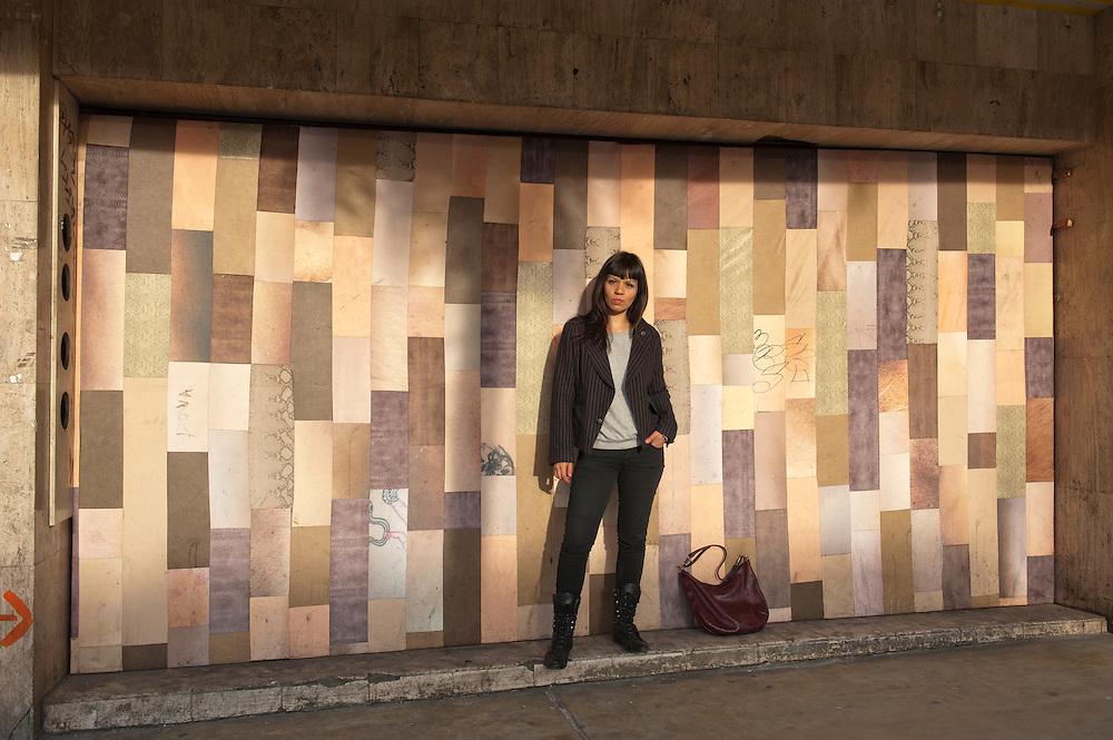 Siki Carpio formed the band Cristina Crème in Tijuana, Mexico, in 2009...© Stefan Falke.http://www.stefanfalke.com/..