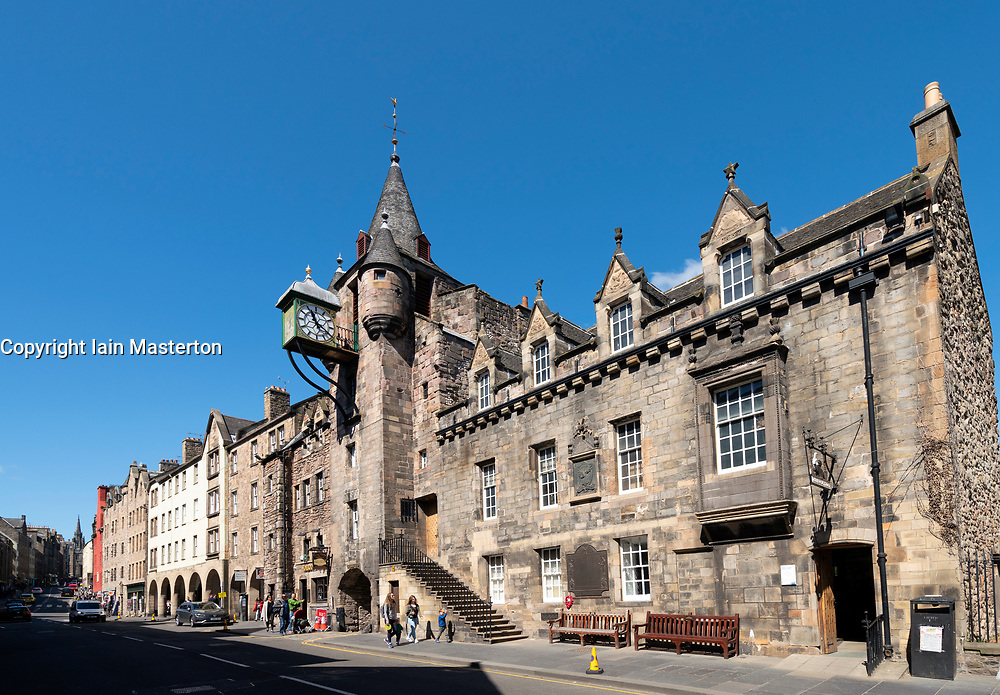The Tollbooth and People's Story museum at Canongate on the Royal Mile in Edinburgh Old Town, Scotland, UK