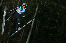 Ursa Bogataj of Slovenia soaring through the air during 1st Round at Day 1 of World Cup Ski Jumping Ladies Ljubno 2019, on February 8, 2019 in Ljubno ob Savinji, Slovenia. Photo by Matic Ritonja / Sportida