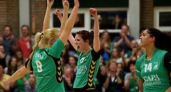 12-04-2014 NED: Finale vv Alterno - Sliedrecht Sport, Apeldoorn<br /> (L-R) Linda te Molder, Marlou Sommer, Celeste Plak