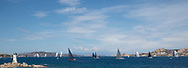 The fleet of the Rolex Maxi Cup 2017, Costa Smeralda, Porto Cervo Yacht Club Costa Smeralda (YCCS).