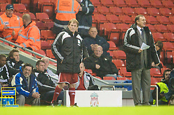 LIVERPOOL, ENGLAND - Thursday, May 14, 2009: Liverpool Legends' player/manager Kenny Dalglish and All Stars' assistant manager Phil Thompson during the Hillsborough Memorial Charity Game at Anfield. (Photo by David Rawcliffe/Propaganda)