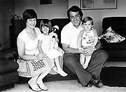 Former All Black Bryan Williams with wife Leslie and their children, Marie (3 years) and Gavin (1 year) taken in 1978.<br /> Copyright photo: Norman Smith / www.photosport.co.nz