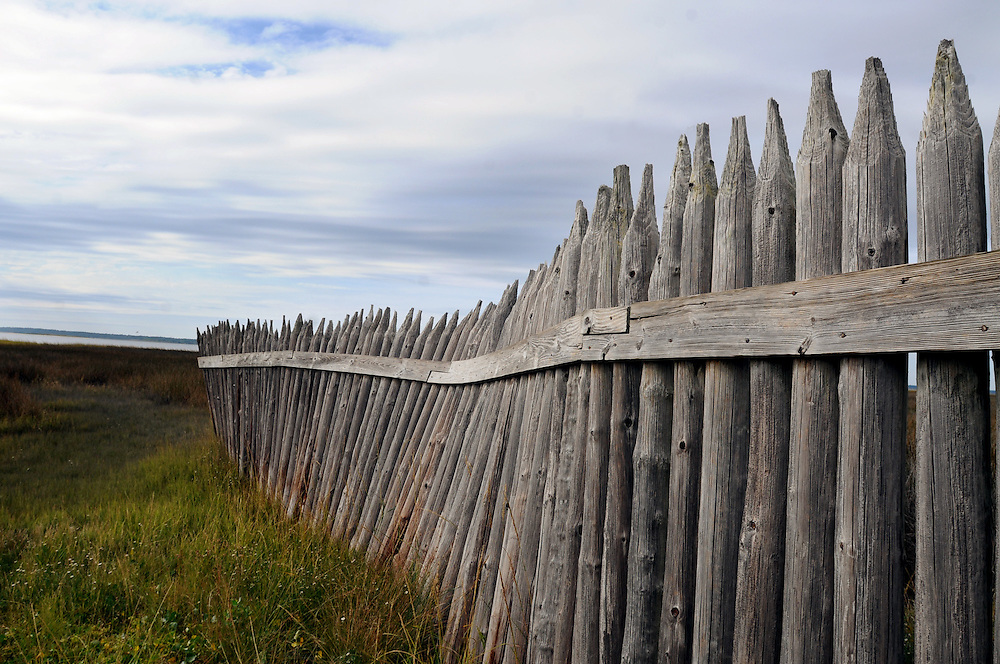The palisade fence, which is a replica of the palisade fence here during the Civil War, at the Fort Fisher State Historic Site in Kure Beach, North Carolina Monday, October 21, 2013. Replacement of palisade fence constructed around 1965 is one of the items included on a list of state capital improvements slated for approval by a legislative committee later this month. Photo By Mike Spencer/StarNews Media