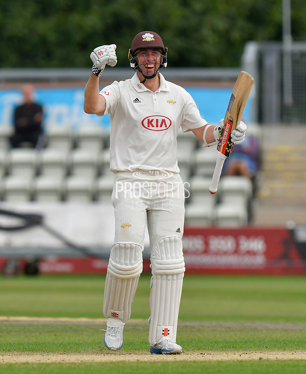 Surrey are Champions - Rikki Clarke of Surrey celebrates winning the County Championship during the final day of the Specsavers County Champ Div 1 match between Worcestershire County Cricket Club and Surrey County Cricket Club at New Road, Worcester, United Kingdom on 13 September 2018.