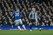 Jonjo Shelvey (Newcastle United) during the Barclays Premier League match between Everton and Newcastle United at Goodison Park, Liverpool, England on 3 February 2016. Photo by Mark P Doherty.