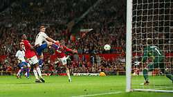 27.09.2011, Old Trafford, London, ENG, UEFA CL, Gruppe C, Manchester United (ENG) vs FC Basel (SUI), im Bild Manchester United's Ashley Young scores the equalising 3-3 goal against FC Basel 1893 // during the UEFA Champions League game, group C, Manchester United (ENG) vs FC Basel (SUI) at Old Trafford stadium in London, United Kingdom on 2011/09/27. EXPA Pictures © 2011, PhotoCredit: EXPA/ Propaganda Photo/ David Rawcliff +++++ ATTENTION - OUT OF ENGLAND/GBR+++++
