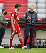 Christian Streich Trainer head coach von SC Freiburg mit Thomas Müller Mueller #25 von FC Bayern Muenchen During the Bayern Munich vs SC Freiburg Bundesliga match  at Allianz Arena, Munich, Germany on 20 June 2020.