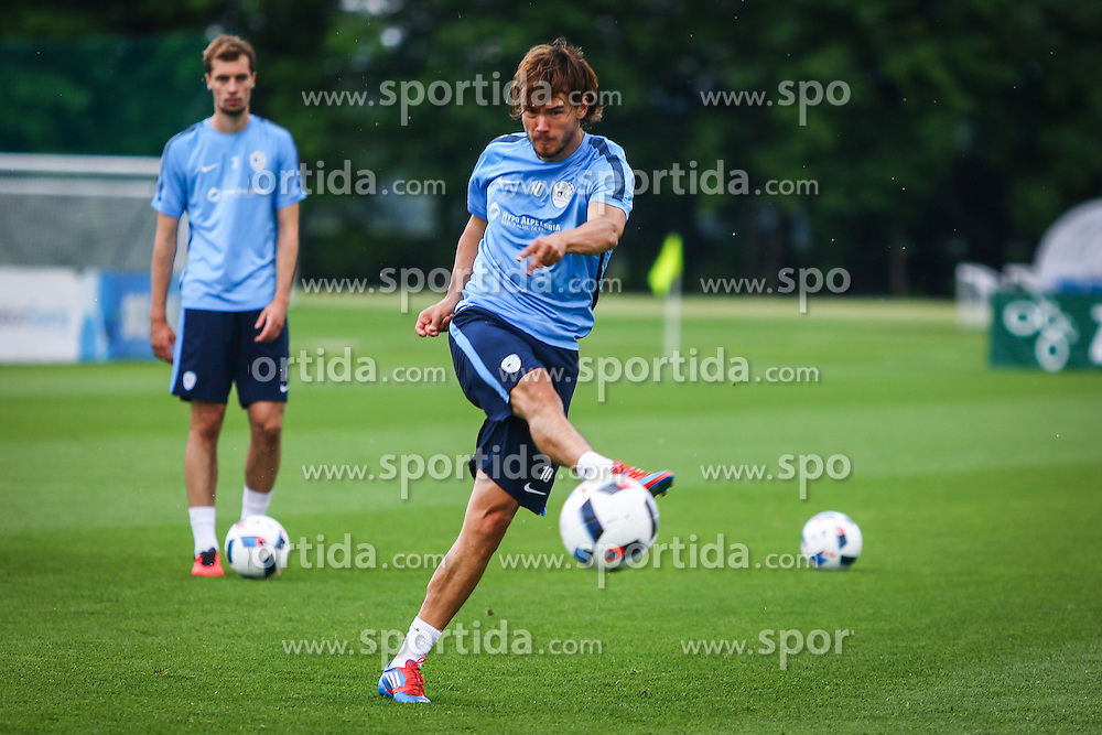 Rene Krhin during practice session of Slovenian Football Team practice session of Slovenian National Team before game against Sweden, on May 26, 2016 in Football centre Brdo pri Kranju, Slovenia. Photo by Ziga Zupan / Sportida