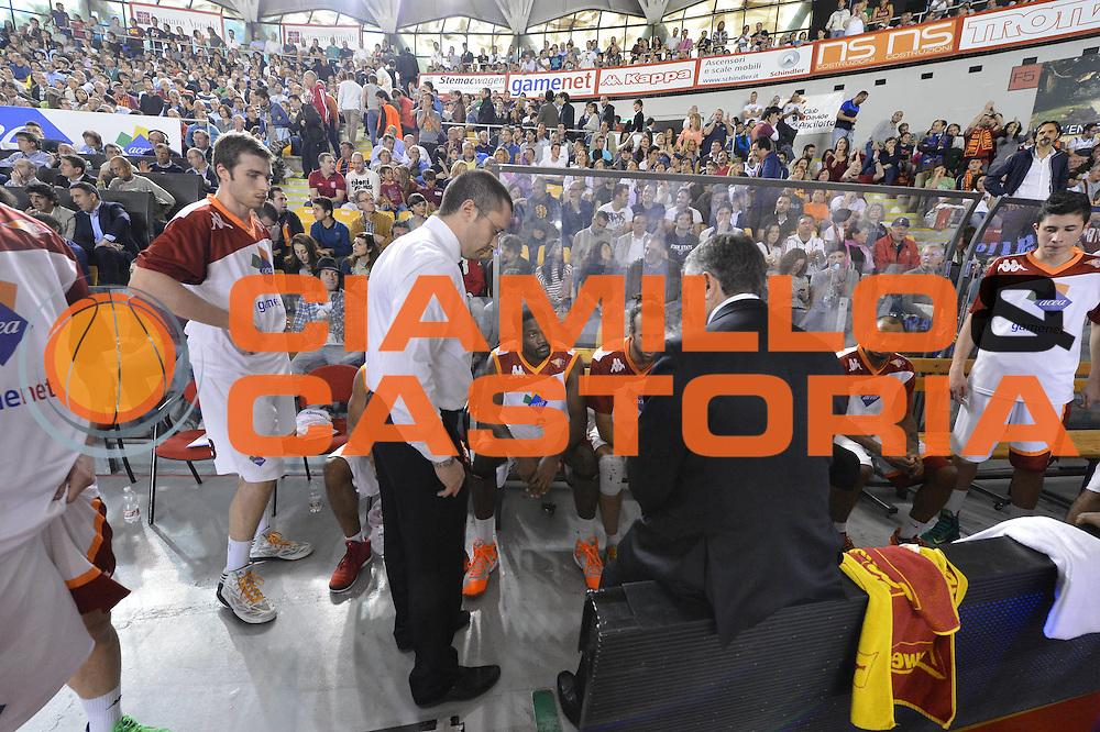 DESCRIZIONE : Roma Lega A 2012-2013 Acea Roma Lenovo Cant&ugrave; playoff semifinale gara 2<br /> GIOCATORE : Marco Calvani<br /> CATEGORIA : timeout<br /> SQUADRA : Acea Roma<br /> EVENTO : Campionato Lega A 2012-2013 playoff semifinale gara 2<br /> GARA : Acea Roma Lenovo Cant&ugrave;<br /> DATA : 27/05/2013<br /> SPORT : Pallacanestro <br /> AUTORE : Agenzia Ciamillo-Castoria/GiulioCiamillo<br /> Galleria : Lega Basket A 2012-2013  <br /> Fotonotizia : Roma Lega A 2012-2013 Acea Roma Lenovo Cant&ugrave; playoff semifinale gara 2<br /> Predefinita :