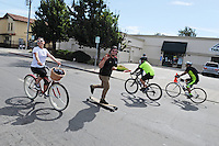 Young people enjoy themselves during the first annual Ciclovia, a popular non-vehicle event held along Alisal Street in Salinas on Sunday, October 6th.
