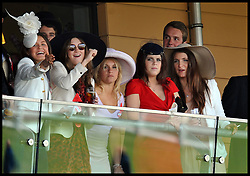Princess Eugenie watching the 3rd race on the last day of Royal Ascot, Saturday June 18, 2011 Photo By Andrew Parsons/i-Images