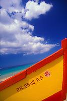 Colorful yolas (fishermen's boats)