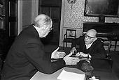 1963-03/06 Igor Stravinsky at Áras an Uachtarain