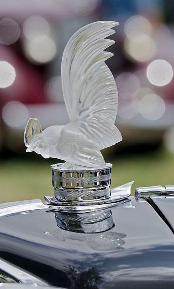 Lilac Hood Ornament,Keeneland Concours D'Elegance,Lexington,Ky.