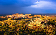 A picture of the Pawnee Buttes near sunset.<br />