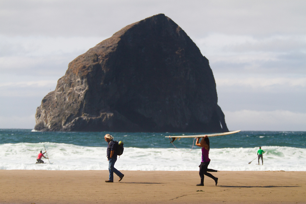 Haystack Rock, Pacific City Oregon. The Oregon Coast, a classic, beautiful road trip. Heading West from Portland to Tillamook, with a detour to the fishing village of Garibaldi, through Cape Lookout State Park and on to our final destination of Pacific City.
