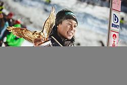 06.01.2019, Paul Außerleitner Schanze, Bischofshofen, AUT, FIS Weltcup Skisprung, Vierschanzentournee, Bischofshofen, Siegerehrung, Gesamtsieger, im Bild Ryoyu Kobayashi (JPN) // Ryoyu Kobayashi of Japan during the overall winner Ceremony for the Four Hills Tournament of FIS Ski Jumping World Cup at the Paul Außerleitner Schanze in Bischofshofen, Austria on 2019/01/06. EXPA Pictures © 2019, PhotoCredit: EXPA/ Stefanie Oberhauser