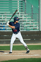 KELOWNA, BC - JULY 24: Austen Butler #28 of the Kelowna Falcons steps up to bat against the Yakima Valley Pippins at Elks Stadium on July 24, 2019 in Kelowna, Canada. (Photo by Marissa Baecker/Shoot the Breeze)