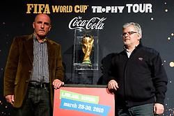 Branko Oblak and Branko Vekic at VIP reception of FIFA World Cup Trophy Tour by Coca-Cola, on March 29, 2010, in BTC City, Ljubljana, Slovenia.  (Photo by Vid Ponikvar / Sportida)