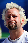 TAMPA, FL - JANUARY 27: Kicker Jeff Reed #3 of the AFC Pittsburgh Steelers speaks to the media during Super Bowl XLIII Media Day at Raymond James Stadium on January 27, 2009 in Tampa, Florida. ©Paul Anthony Spinelli *** Local Caption *** Jeff Reed