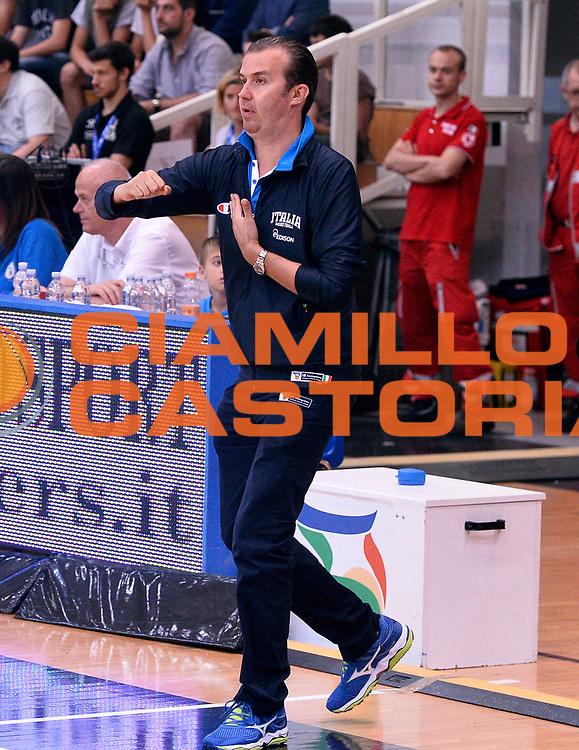 DESCRIZIONE : Trento Nazionale Italia Uomini Trentino Basket Cup Italia Belgio Italy Belgium<br /> GIOCATORE : Simone Pianigiani<br /> CATEGORIA : allenatore coach<br /> SQUADRA : Italia Italy<br /> EVENTO : Trentino Basket Cup<br /> GARA : Italia Belgio Italy Belgium<br /> DATA : 12/07/2014<br /> SPORT : Pallacanestro<br /> AUTORE : Agenzia Ciamillo-Castoria/R.Morgano<br /> Galleria : FIP Nazionali 2014<br /> Fotonotizia : Trento Nazionale Italia Uomini Trentino Basket Cup Italia Belgio Italy Belgium