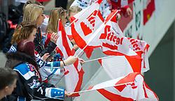 13.02.2016, Olympiaworld, Innsbruck, AUT, Euro Ice Hockey Challenge, Österreich vs Frankreich, im Bild österreichische Flaggen // austrian Flaggs during the Euro Icehockey Challenge Match between Austria and France at the Olympiaworld in Innsbruck, Austria on 2016/02/13. EXPA Pictures © 2016, PhotoCredit: EXPA/ Jakob Gruber