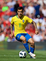 LIVERPOOL, ENGLAND - Sunday, June 3, 2018: Brazil's Philippe Coutinho Correia during an international friendly between Brazil and Croatia at Anfield. (Pic by David Rawcliffe/Propaganda)